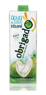 Kit C/ 15 Unids - Água De Coco Integral Obrigado 1000ml