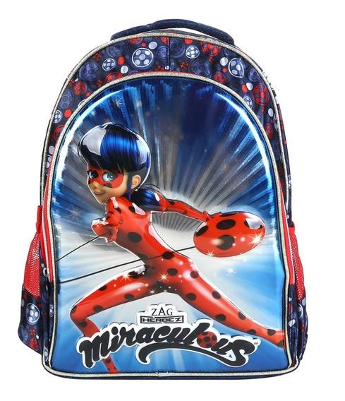 Mochila Infantil Escolar De Costas Miraculous/ladybug 3d
