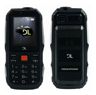 Celular Dl Powerphone Dual Chip Função Power Bank Lanterna