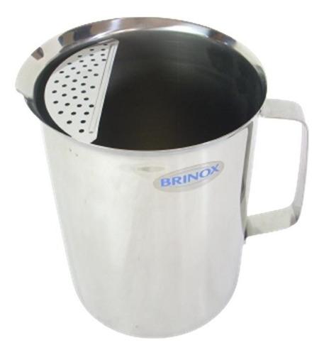 Jarra De Agua Acero Inoxidable Brinox 3 Litros Cocina Ksa