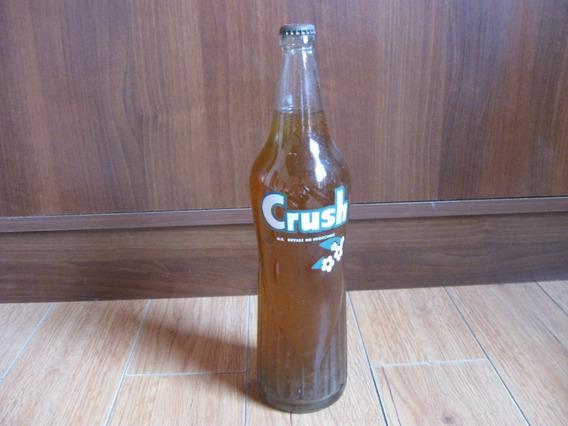 Antigua Botella De Gaseosa Crush De Litro, Cerrada