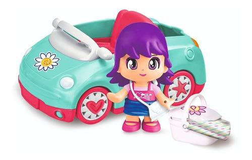 Pinypon Auto Figura Y Accesorios Nenas Vehiculo 15652 Full