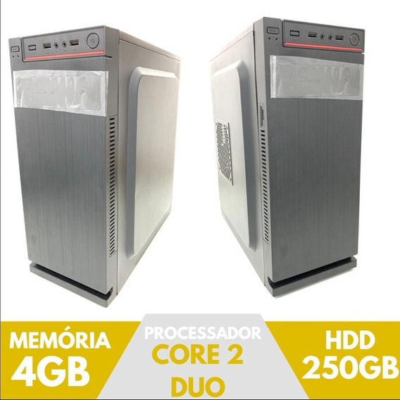Cpu Core 2 Duo Ram 4gb, Hd 250gb Parcele S/ Juros