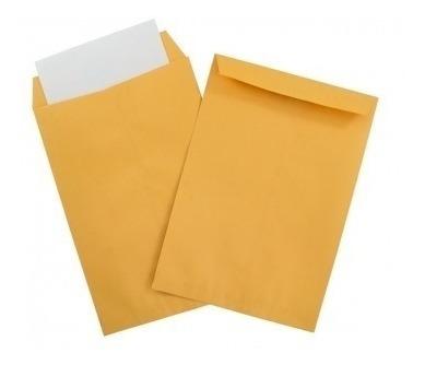 Sobres Manila Extra Oficio Color Naranja Paquete 250unidades