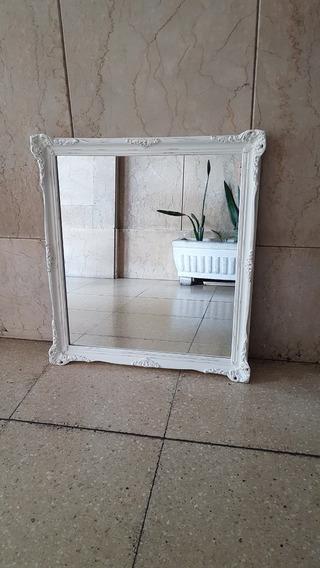 Espejo Antiguo Provenzal Francés Modelo Amplio Reciclado