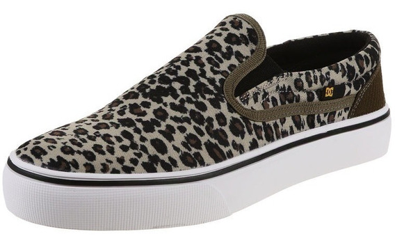 Zapatillas Panchas Mujer Dc Shoes Animal Print Talle 36 Ofer