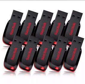 Pendrive Sandisk 8gb Kit 10un Pronta Entrega