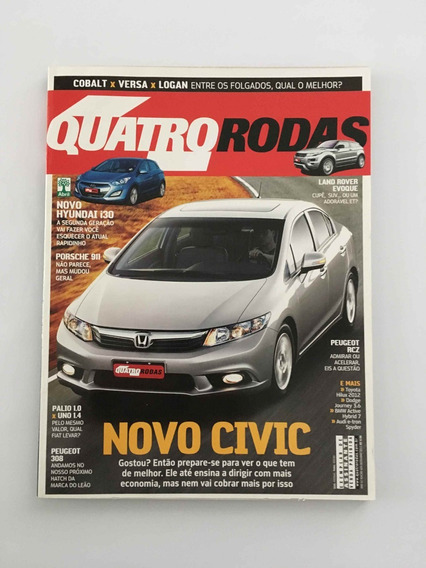 Revista Quatro Rodas - Dezembro 2011 - Nº 624 Civic I30