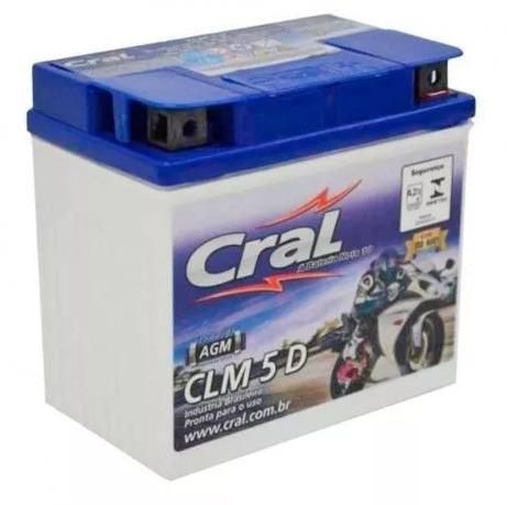 Bateria Cral 5d Moto Cg 125/150