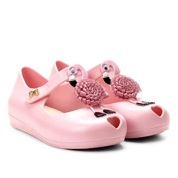 Sandália Peep Toe Salomé Flamingos Rosa World Colors