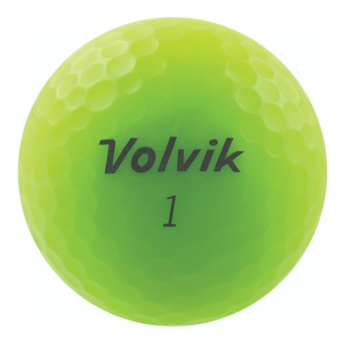 Imagen 1 de 3 de Pelotas Para Golf Volvik Vivid, 12 Pz. Color Verde Mate.