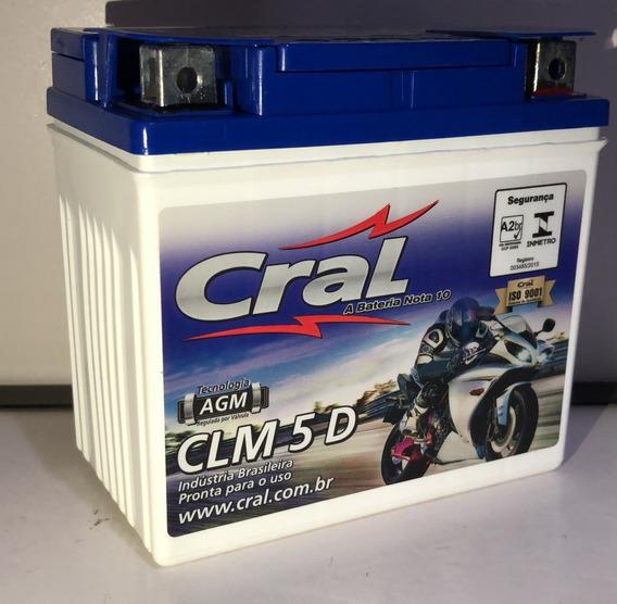 Bateria Cral Moto 5ah Clm5d Cg 150 09~/biz 125