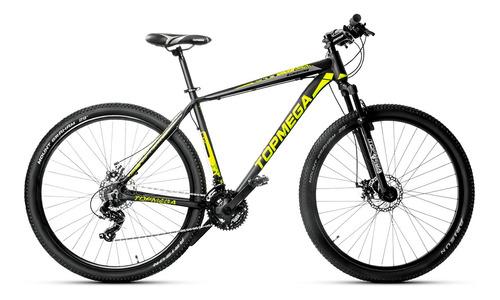 Imagen 1 de 2 de Mountain bike TopMega Sunshine R29 M 21v frenos de disco mecánico cambios Shimano Tourney TY300 color negro
