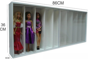2 Estantes Barbie 10 Nichos Marujo Estantes Pacote Promo