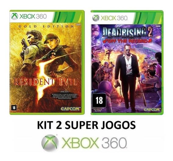 Resident Evil 5 + Dead Rising 2 Off - Midia Fisica Xbox 360