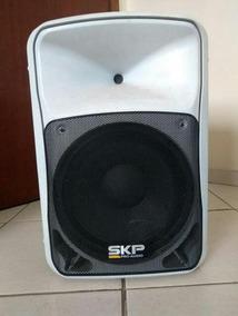 Caixa De Som Ativa Skp Pro Audio + Suporte