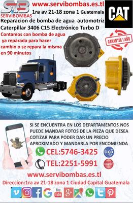 Bomba De Agua Automotriz Caterpillar 3406 C15 Guatemala