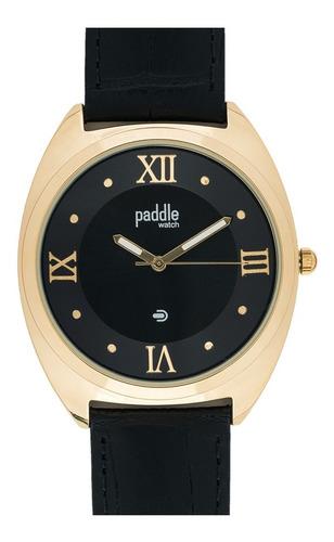 Reloj Clásico Hombre Malla De Cuero Croco Paddle Watch