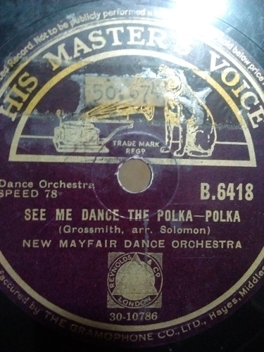 New Mayfair Dance Orchestra Disco Pasta B6418 C69