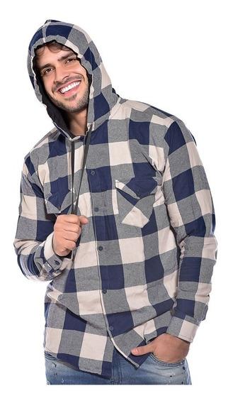 Camisa Com Capuz Xadrez Infantil Juvenil 1 Ao 16 Ref 1006