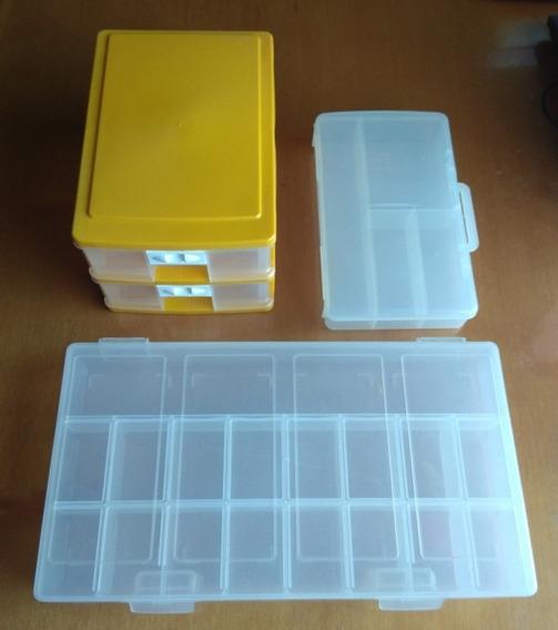 Kit - Caixas Organizadoras Com Divisórias