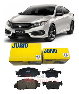 Kit Pastilha Freio Honda Civic Exl 2.0 16v 2017 2018 2019
