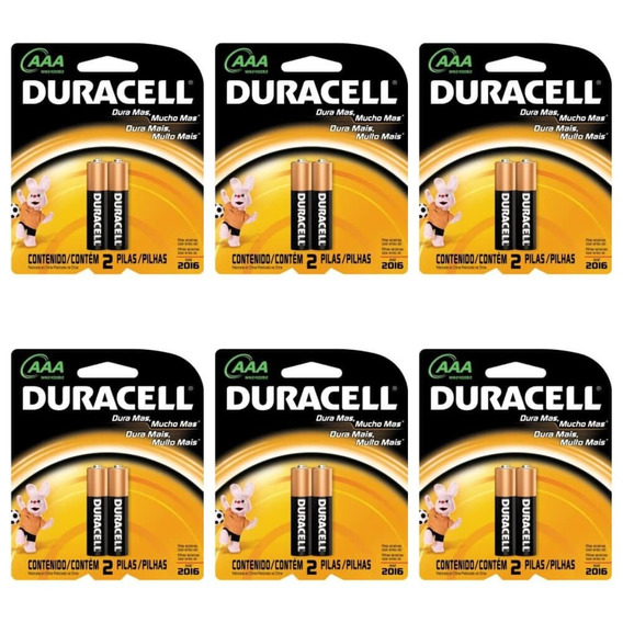 Duracell Palito Pilha Aaa C/2 (kit C/06)