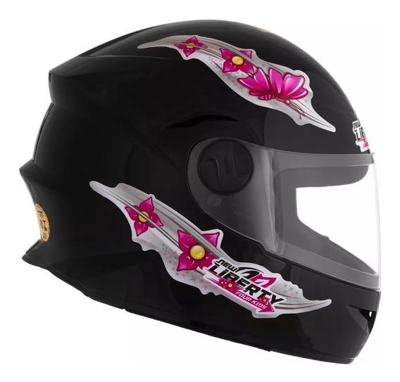 Capacete Moto Infantil Protork Liberty4 Kids Girls 54 Menina