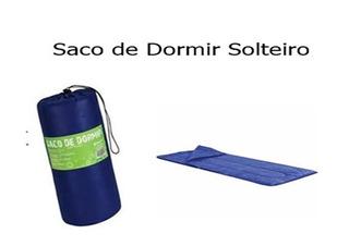 Saco De Dormir Solteiro Maringa 192x75 Com Ziper ( Azul )
