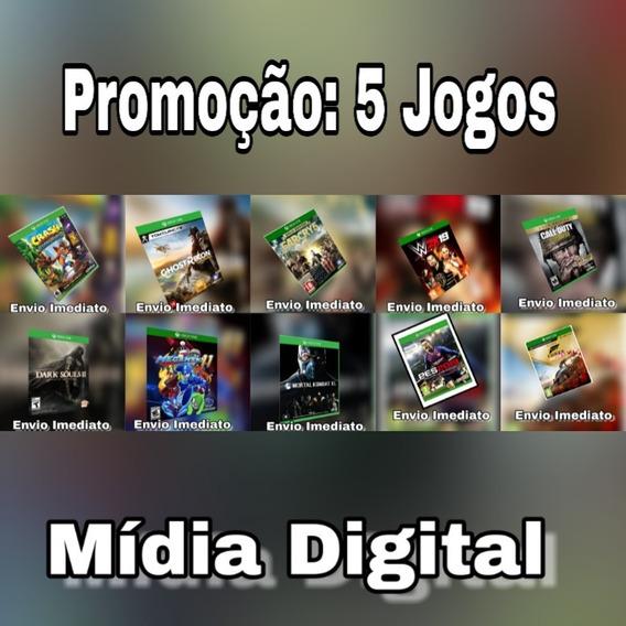 Pacote Com 5 Jogos - Xbox One - Digital + Brinde