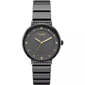 Relógio Euro Feminino Spike Slim Preto - Eu2035yob/4p