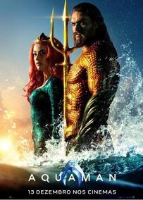 Poster Duplo Do Filme Aquaman C/ Jason Momoa