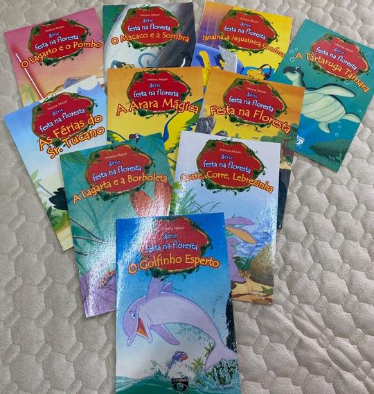 Série Festa Na Floresta - 10 Livros Infantis Novos