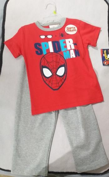 Conjunto Niño Disney Spider Man Mickey Playera Y Pantalon