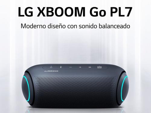 Parlante LG Xboom Go Pl7 Bluetooth Tecnología Meridian Gris