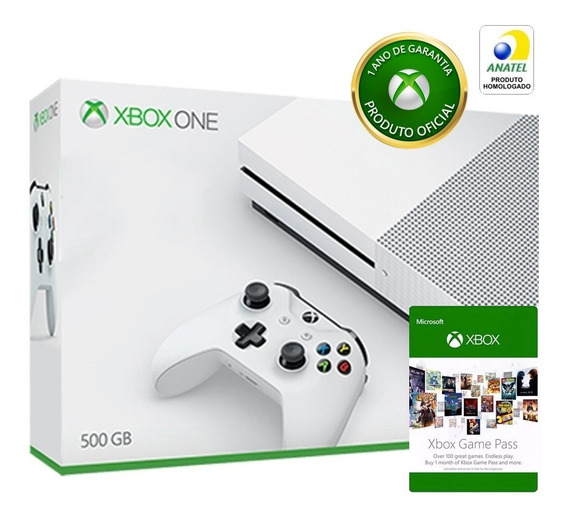 Console Microsoft Xbox One S 500gb Com Game Pass