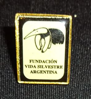 Pin Broche Prendedor Fundación Vida Silvestre Oso Hormiguero
