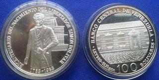 Moneda Bicent. Nacim. S. Bolívar 1783-1993 Ley 900. 31.10 Gr