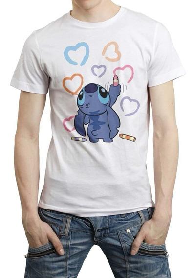 Disney Lilo Y Stitch Love Playera Hombre Mujer