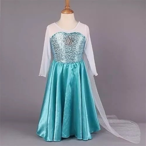 Vestido Frozen Elsa + Acessórios De Princesa