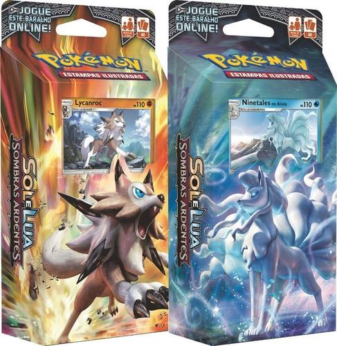 Imagem 1 de 4 de 2 Decks Pokémon Sombras Ardentes Ninetales Lycanroc - Copag