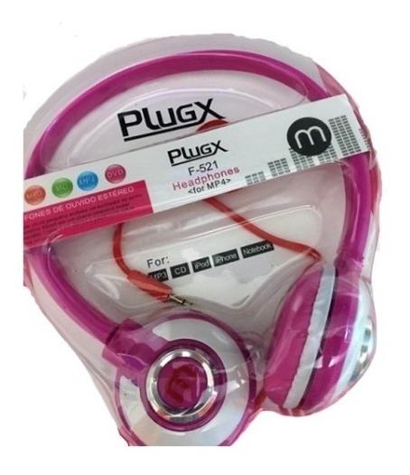 Fone De Ouvido Headfone Mp3 Mp4 Mc Dvd Plugx F-521