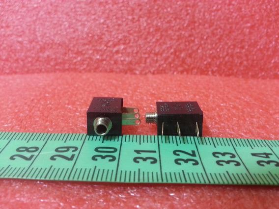 2 Conectores Jack 2.5mm Con Carcasa Plastica