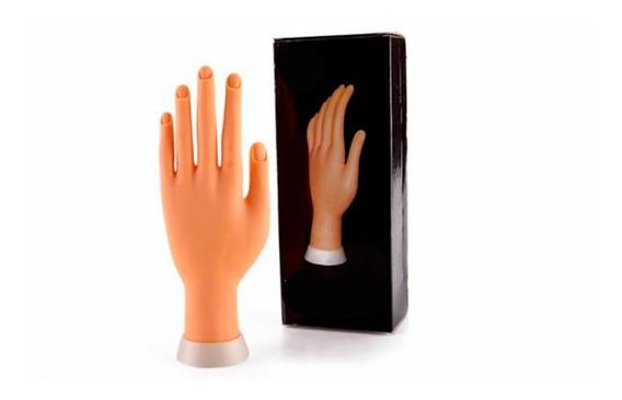 Mano De Goma Para Practica Para Manicuria Uñas, Oferta, Mania-electronic