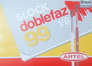 Block Doblefaz Texturado Artel 99 1/8 20 Hojas Escolar