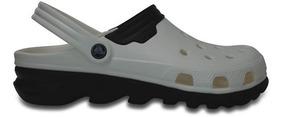 Zapato Crocs Caballero Duet Max Clog Blanco/negro