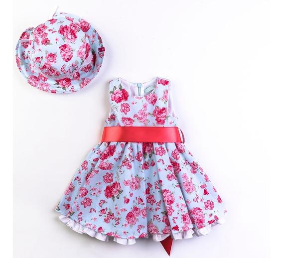 Vestido Para Nena Chibel Pureza Vestido Largo Floreado Niñas
