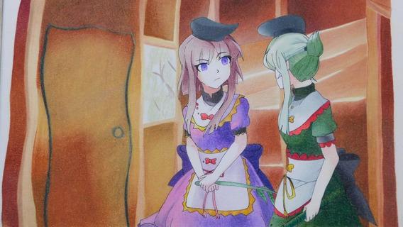 Dibujo Anime Touhou Project Satono Nishida Mai Teireida