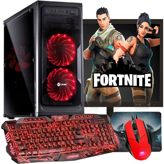 Pc Gamer Completo 500gb + Monitor + Kit Gamer / Jogos Atuais