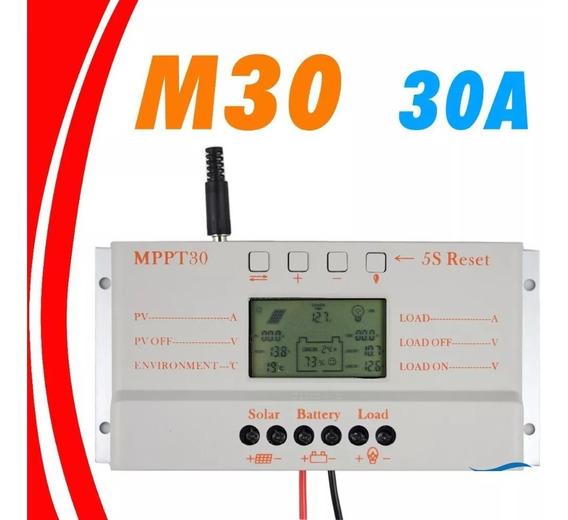 Controlador Carga Painel Solar Mppt 30a 12/24v Novo Na Caixa